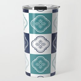 Portuguese Tiles Pattern 2 Travel Mug