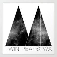 Twin Peaks, WA Art Print