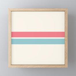 2 Stripes Pink Mint Framed Mini Art Print