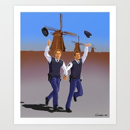 Netherland police Art Print