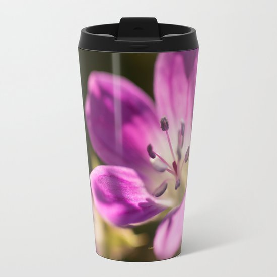 Purple glow in forest Metal Travel Mug