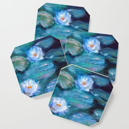 Blue Water Lilies Coaster