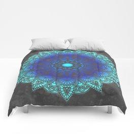 Blues Watercolor Mandala Comforters