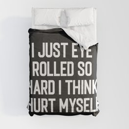 Eye Rolled So Hard Funny Quote Comforters