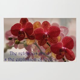 The Religious Mind, Explosion of Love - Quote Rug