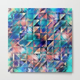 Textural Reflections of Turquoise Metal Print