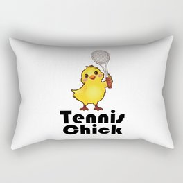 Tennis chick. Sports girl enthusiast gifts Rectangular Pillow