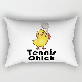 Tennis chick. Sports girl enthusiast gifts Rectangular Pillow