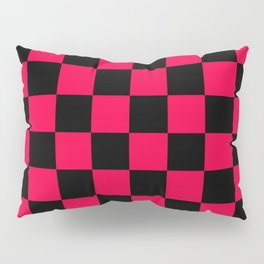 Black and Red Checkerboard Pattern Pillow Sham