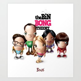 The Bin Bong Theory Art Print