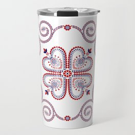 Portuguese Folk Pattern – Viana do Castelo embroidery Travel Mug