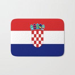 Flag of croatia -croatian, Hrvatska,croat,croacia,Zagreb,split,rijeka,osijek. Bath Mat