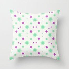 Stars Motif Multicolored Pattern Throw Pillow
