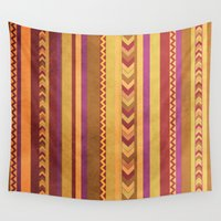 peru Wall Tapestries featuring aztec I by morenina
