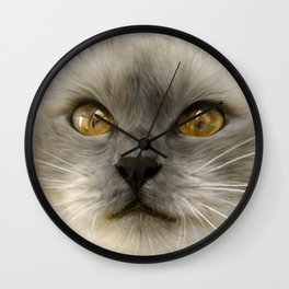 """Cute Kitty (Love cats)"" Wall Clock"
