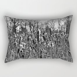 Winter Poetry of the Grasses Rectangular Pillow