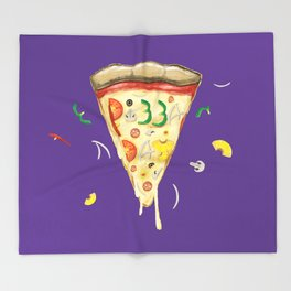 Pizza Slice for National Pizza Day Throw Blanket