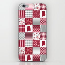 Alabama university crimson tide quilt pattern college sports alumni gifts iPhone Skin