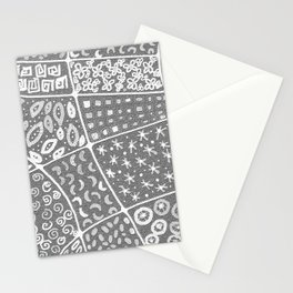Abstract gray and white background Stationery Cards