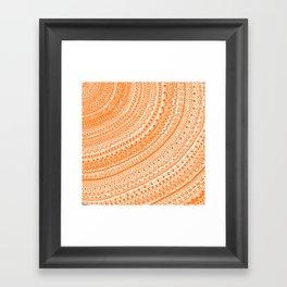 Orange Pulse o3. Framed Art Print