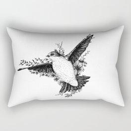 Swallow in leaves Rectangular Pillow