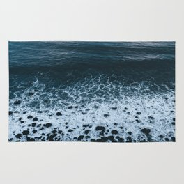 Iceland waves and shapes - Landscape Photography Rug