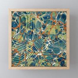 Old Marbled Paper 05 Framed Mini Art Print