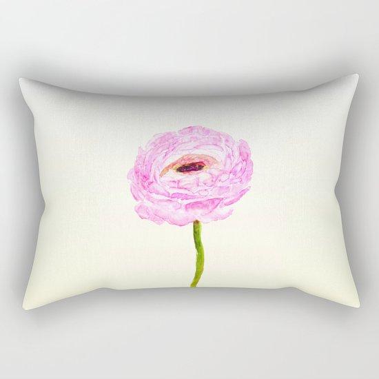 pink cultivited buttercup, Ranunculus Rectangular Pillow