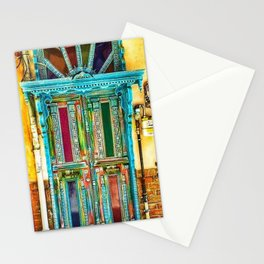 Beautiful Multi-Colored Doorway Photograph Stationery Cards