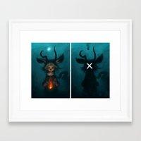 kindle Framed Art Prints featuring kindle by s a Lieske