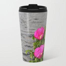 Seaside Wild Roses Travel Mug
