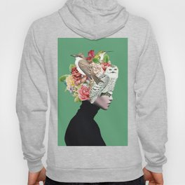 Lady with Birds(portrait) 2 Hoody