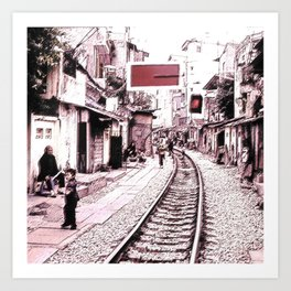 The train is coming soon.... Art Print