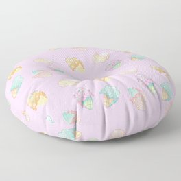 Pastel Melted Ice Cream (Pink) Floor Pillow