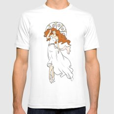 Muchaesque Ballet Girl Mens Fitted Tee White MEDIUM