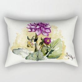 Watercolour Dhalia Rectangular Pillow