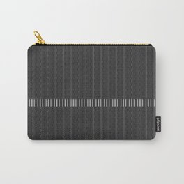 Black Textured Stripes Carry-All Pouch