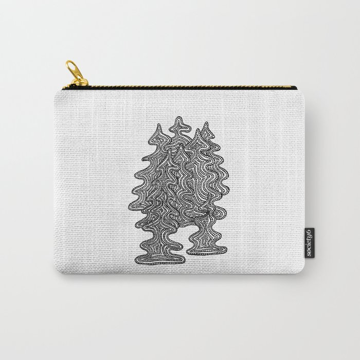 Abstract Xmas Trees Carry-All Pouch