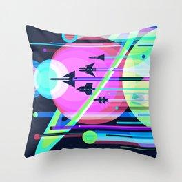 The Grand Tour NASA JPL Space Tourism Poster Kids Space Room Decor Throw Pillow