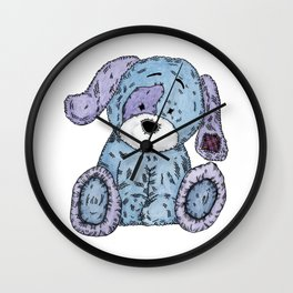 Cuddly Dog Wall Clock