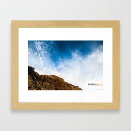 Blue Sky Rock Framed Art Print