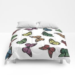 Multi Colored Butterfly Pattern Comforters