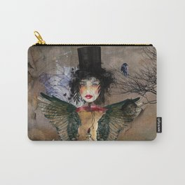 Lady in a Black Hat Carry-All Pouch