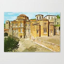 Hosios Loukas monastery Distomo Greece Canvas Print