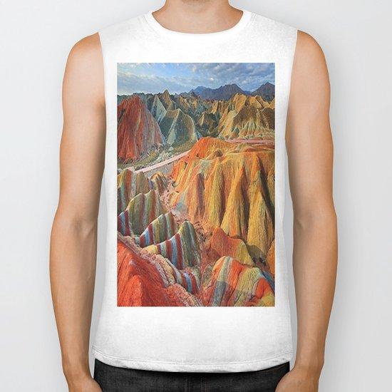 colours mountains Biker Tank