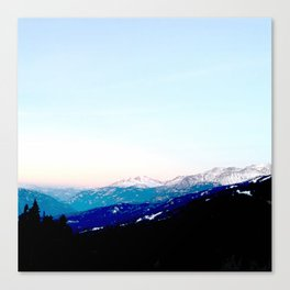 Mountain views abstracted to color blocks Canvas Print