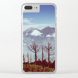Volcanos Side by Side Clear iPhone Case
