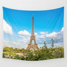 Cloud 9 - Eiffel Tower Wall Tapestry