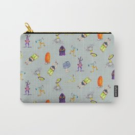 Little Monsters on Gray Carry-All Pouch
