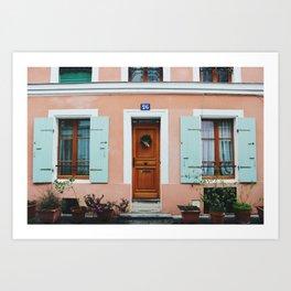 Rue Crémieux House Front Art Print